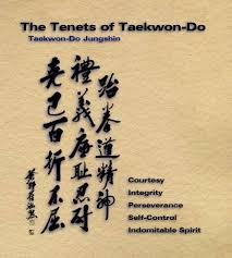 tenets of taekwondo